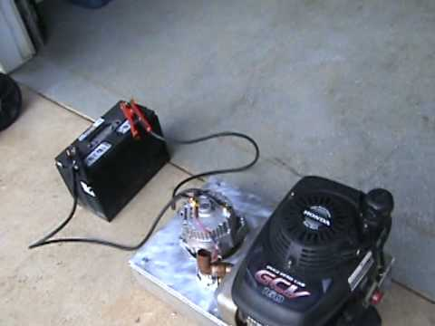 Dc Generator Made From A Lawn Mower Engine And Alternator