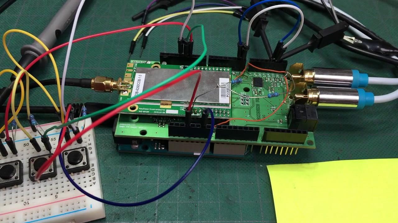 Dabduino arduino dab digital radio shield prototype