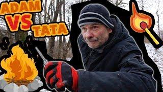 Adam vs Tata #114 Kto szybciej rozpali ognisko?!