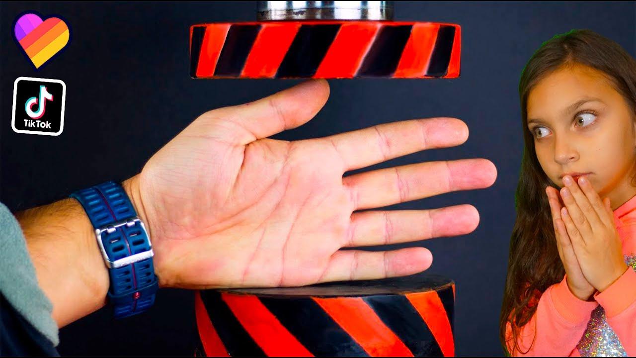 ЭКСПЕРИМЕНТ: Который НЕ НАДО Повторять в ЛАЙК и ТИКТОК! ПРЕСС vs РУКА! ЗАЛИП ВАУ Челлендж Валеришка