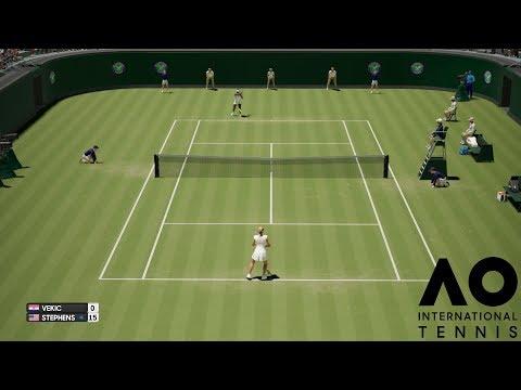 Donna Vekić vs Sloane Stephens - AO International Tennis - Gameplay