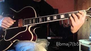 Jazz Guitar - Pat Martino Dorian Scale & approach notes - different chord