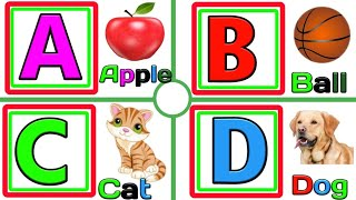 A for apple,abcd alphabet, learning for kid, alphabet song nursery rhymes,abc song,abcd,abcanimation
