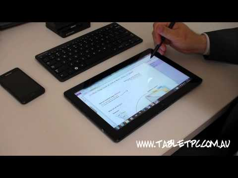 Samsung Series 7 Slate - Windows 7 Tablet PC Software Preview - Part 2