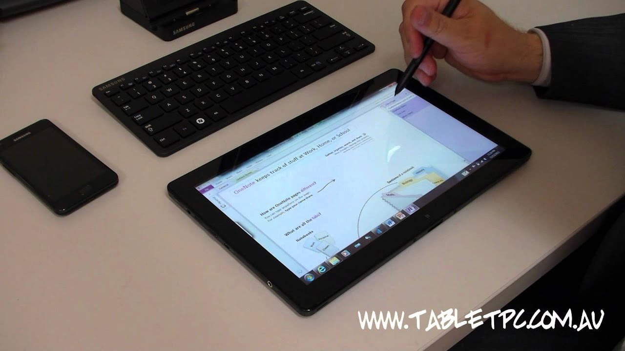 samsung series 7 slate windows 7 tablet pc software preview part 2 youtube