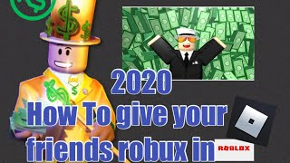 HOW TO GIVE YOUR FRIENDS ROBUX IN ROBLOX!| NO JAILBREAK 100% FREE