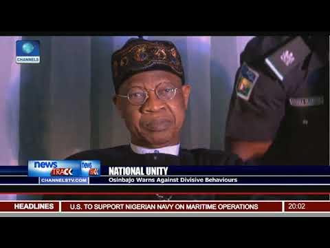 Osinbajo Warns Against Divisive Behaviours