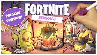 [SpeedPaint] Fortnite Season8 Skins Pikachu Version (fr) iPadpro Procreate - France Comment dessiner Fortnite