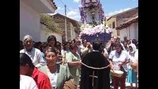 FIESTA EN MARCARÁ PROCESIÓN DEL SEÑOR DE CHAUCAYÁN MARCARÁ ANCASH PERÚ 2007