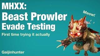 Monster Hunter XX: Beast Prowler Evade Testing