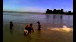 Children bathing in Brahmaputra.3gp