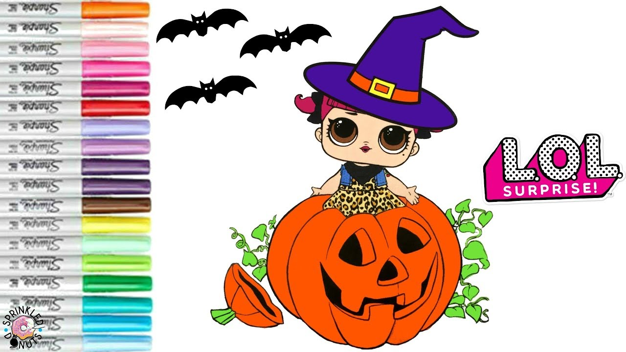 Lol Surprise Dolls Halloween Coloring Book Page Witch Cherry In A Pumpkin Youtube