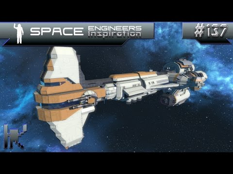 Space Engineers Inspiration - Episode 137: Saturn MK IV, Hammerhead Corvette, & Typhoon Carrier