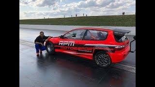 Civic TURBO RPM MOTORSPORT novo RECORD 8.88s 279Km/h @400m SANTA POD UK. Portugal a REPRESENTAR