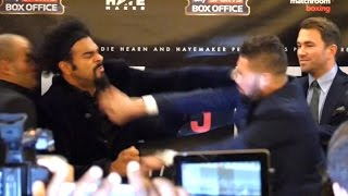 David Haye Throws A Punch At Tony Bellew In Pre-Fight Press Conference!