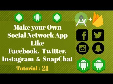 Android Studio Social Network App Using Firebase Tutorial 04 Navigation Header Android Youtube