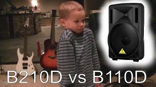 BEHRINGER EUROLIVE b110d vs b210d speaker review