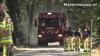 Veel natuurbranden in de regio zoals in Dalfsen