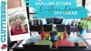 Decorate Your Patio With These Dollar Store Outdoor Decor Ideas