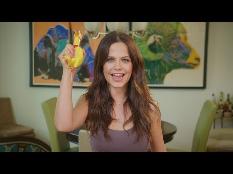 Tammin Sursok Takes a Pie in the Face