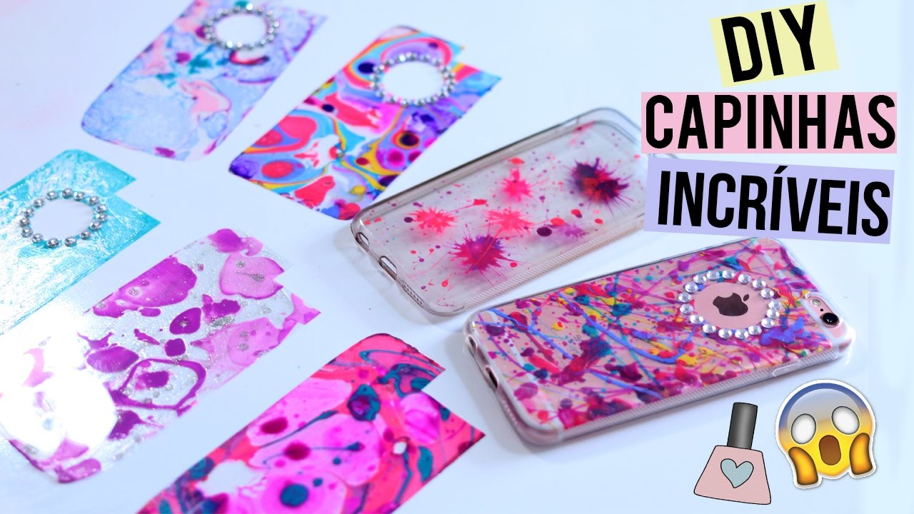 34cf858f0 DIY: Capinhas de Celular com Esmalte | #NiiTodoDia20 - YouTube