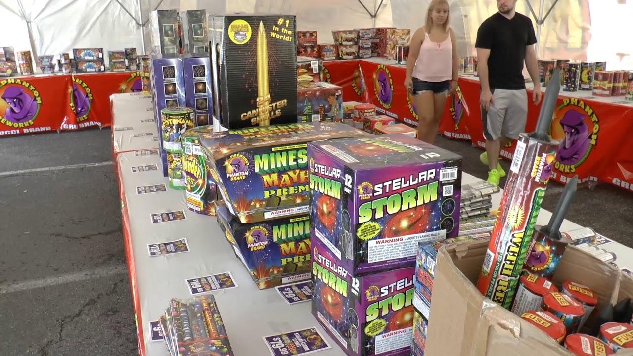 Two Fireworks Tents Phantom Fireworks \u0026 Keystone Fireworks & Two Fireworks Tents Phantom Fireworks \u0026 Keystone Fireworks - YouTube