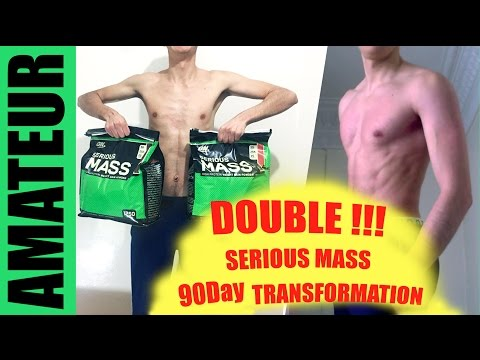 DOUBLE SERIOUS MASS 90 DAY BODY TRANSFORMATION - Ectomorph Befor and After