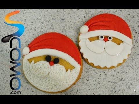 Galletas Decoradas Como Santa Claus Para Navidad
