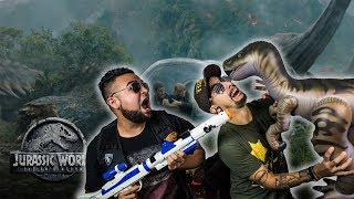 WE GOT ATTACKED BY A DINOSAUR pt 1! REACTING TO Jurassic World: Fallen Kingdom - Trailer Thursday )