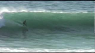 Bill Beaker Bryan Charging Big Waves on Beater Board