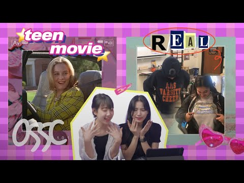 Korean Girls React To American School In Movies VS Real Life | ????????????????