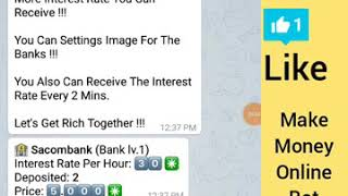 Online Banking Bot Earn Money online free With Telegram App Bitcoin Miner Free All Bots Links Here