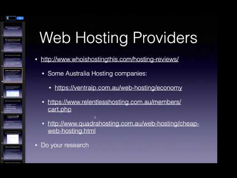 Web Hosting and Domain Name Registration