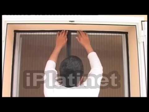 Installazione zanzariera magnetica su misura invenzione - Zanzariere magnetiche per finestre ...