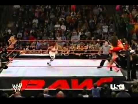 wwe raw  tag team match Trish Stratus & Torrie Wilson vs Victoria & Candice Michelle