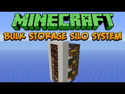 Minecraft: Bulk Storage Silo System Tutorial