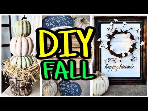 DIY Fall Decor / Fall DIY Trash To Treasure