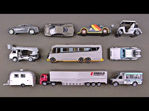 Best Learning Colors Cars Trucks Street Vehicles for Kids - #1 Gray Hot Wheels Matchbox Tomica トミカ