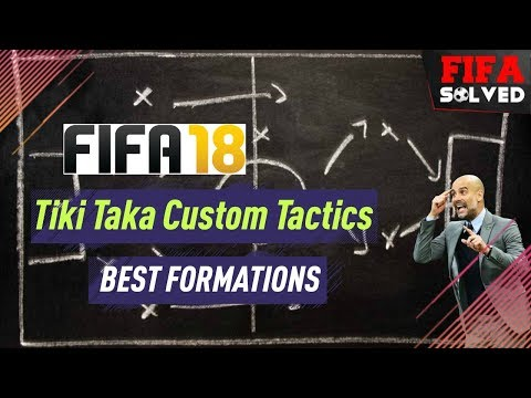 FIFA 18 Tiki Taka Custom Tactics/Formations Tutorial