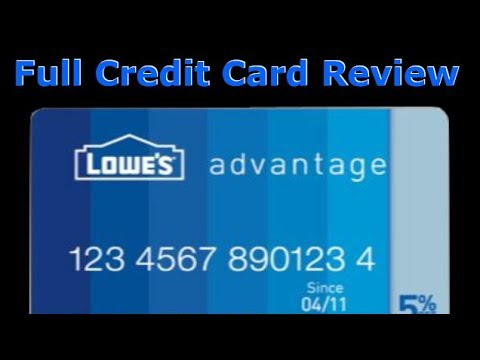 Credit Card Review: Lowe's Advantage Credit Card