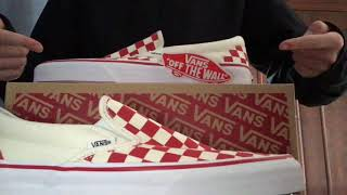 4d8731729d71 Unboxing and on feet! Vans primary red checkered shoes ...