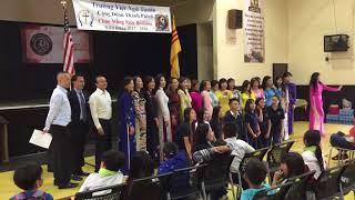 Trường VN Tustin  NGÀY BẾ GIẢNG Niên Khoá 2017-2018. Thứ Bảy, Ngày 12 Tháng 5   Saint Cecilia Tustin