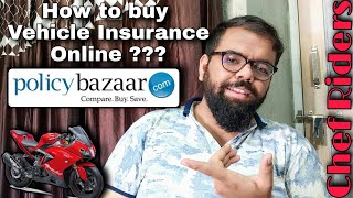 How to buy Vehicle Insurance Online? | From Policy Bazaar | Live Demo in Hindi | Chef Riders