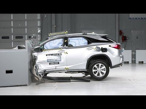 2016 Lexus RX small overlap IIHS crash test