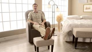 Belham Living Altea Upholstered Footstool - Linen Sand - Product Review Video