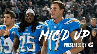 "Melvin Gordon Mic'd Up vs. Raiders, ""I'm getting used to that Cali life baby"" 