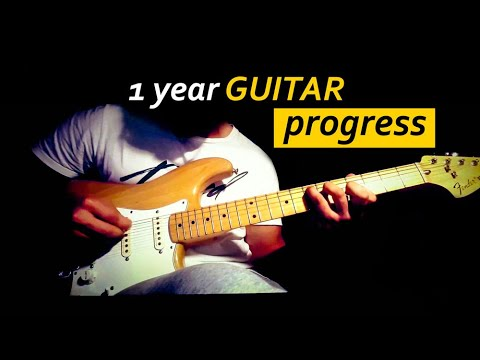 1 Year Guitar Progress (self taught)