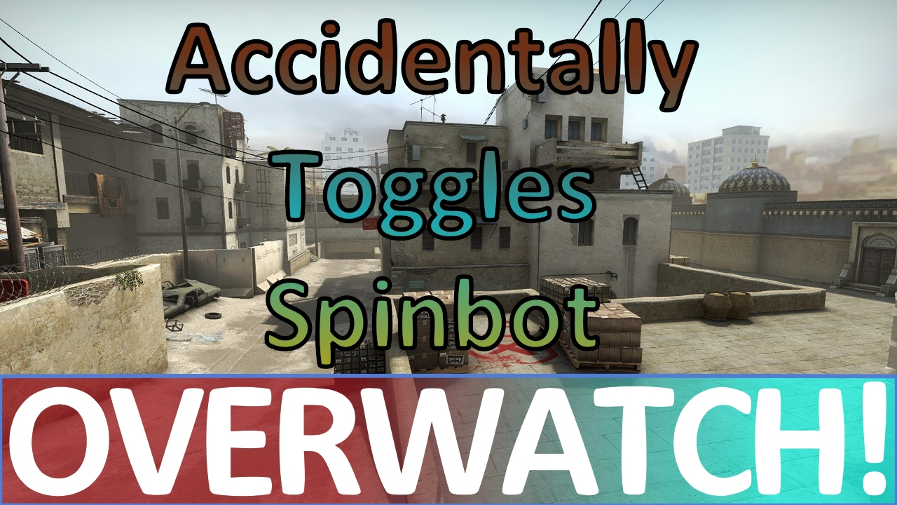 Accidentally Toggles Spinbot but quickly turns it off! CS:GO OVERWATCH!