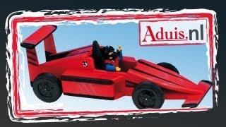 Racewagen met elastieken motor