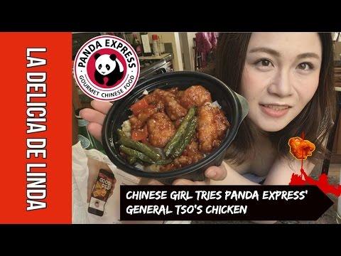 (MUKBANG) Chinese Girl Tries Panda Express' General Tso's Chicken | First Time | Review
